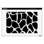 "Giraffe Print Pattern. Animal Print Design, Black. Decals For 15"" Laptops"
