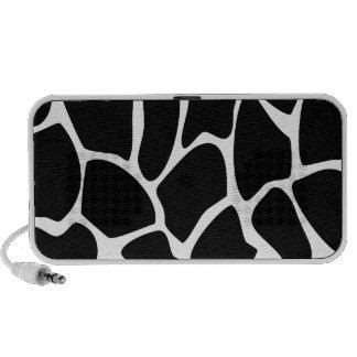 Giraffe Print Pattern. Animal Print Design, Black Portable Speakers
