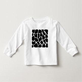 Giraffe Print Pattern. Animal Print Design, Black Toddler T-shirt