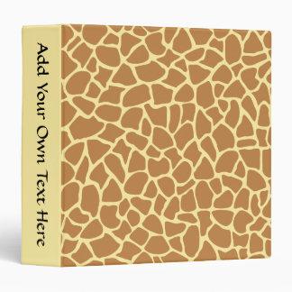 Giraffe Print Pattern. Binder