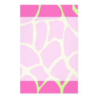 Giraffe Print Pattern, Bright Pink and Lime Green Flyer