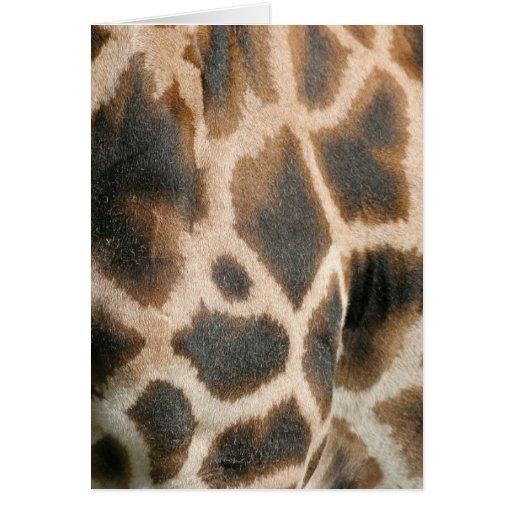 Giraffe Print Pattern Greeting Card