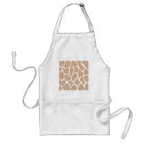 Giraffe Print Pattern in Beige. Adult Apron