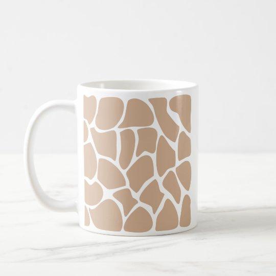Giraffe Print Pattern in Beige. Coffee Mug