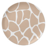 Giraffe Print Pattern in Beige. Dinner Plates