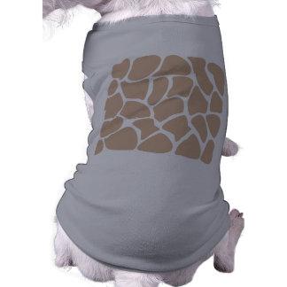 Giraffe Print Pattern in Beige. Doggie Tee Shirt