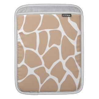 Giraffe Print Pattern in Beige. iPad Sleeve