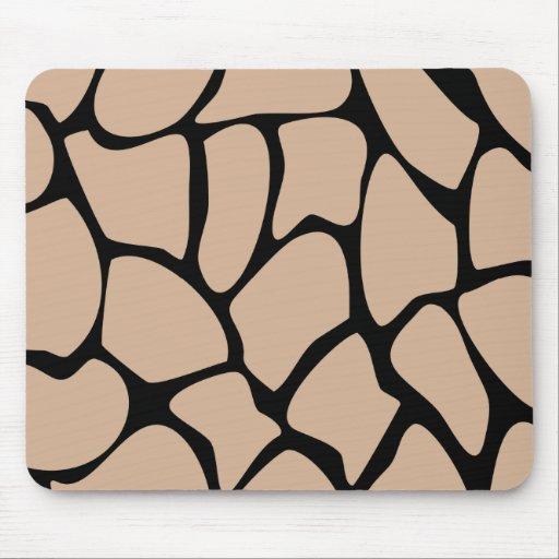 Giraffe Print Pattern in Beige. Mouse Pad