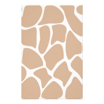 Giraffe Print Pattern in Beige. Stationery