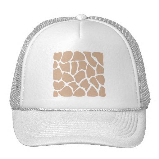 Giraffe Print Pattern in Beige. Trucker Hat