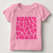 Giraffe Print Pattern in Bright Pink. Baby T-Shirt