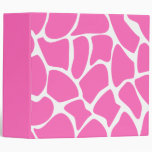 Giraffe Print Pattern in Bright Pink. Binders