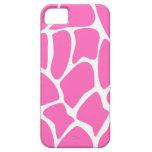 Giraffe Print Pattern in Bright Pink. iPhone 5 Covers