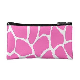 Giraffe Print Pattern in Bright Pink. Cosmetic Bag
