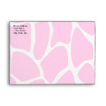 Giraffe Print Pattern in Bright Pink. Envelope