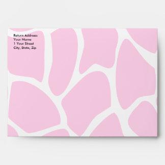 Giraffe Print Pattern in Bright Pink. Envelopes