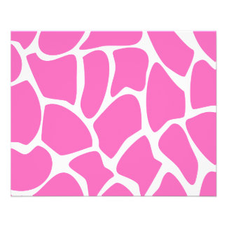 Giraffe Print Pattern in Bright Pink. Flyer