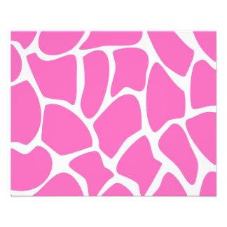 Giraffe Print Pattern in Bright Pink. Flyers