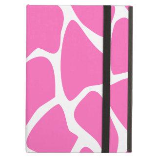 Giraffe Print Pattern in Bright Pink. iPad Air Cover