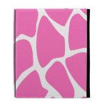 Giraffe Print Pattern in Bright Pink. iPad Case