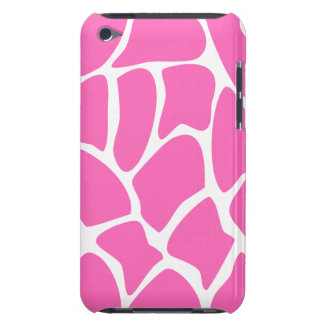 Giraffe Print Pattern in Bright Pink. iPod Touch Cases