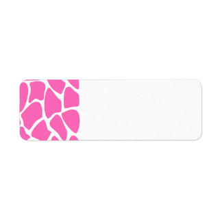 Giraffe Print Pattern in Bright Pink. Label