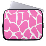 Giraffe Print Pattern in Bright Pink. Computer Sleeves