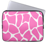 Giraffe Print Pattern in Bright Pink. Laptop Computer Sleeves