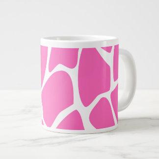 Giraffe Print Pattern in Bright Pink. Large Coffee Mug
