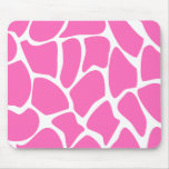 Giraffe Print Pattern in Bright Pink. Mouse Pad