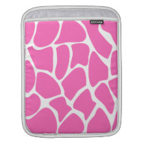 Giraffe Print Pattern in Bright Pink. Sleeve For iPads