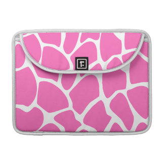 Giraffe Print Pattern in Bright Pink. Sleeve For MacBooks