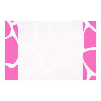 Giraffe Print Pattern in Bright Pink. Stationery