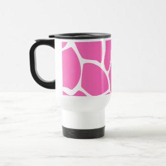 Giraffe Print Pattern in Bright Pink. Travel Mug