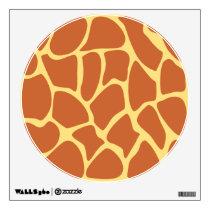 Giraffe Print Pattern in Brown and Yellow. Wall Decal