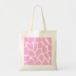 Giraffe Print Pattern in Candy Pink. Tote Bags