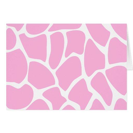 Giraffe Print Pattern in Candy Pink. Card