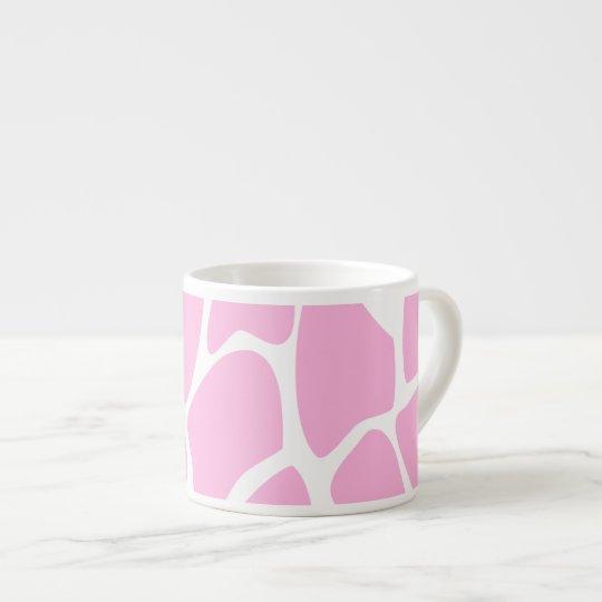 Giraffe Print Pattern in Candy Pink. Espresso Cup