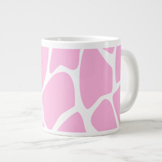 Giraffe Print Pattern in Candy Pink. Giant Coffee Mug