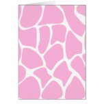 Giraffe Print Pattern in Candy Pink. Greeting Card