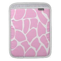 Giraffe Print Pattern in Candy Pink. iPad Sleeve