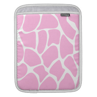 Giraffe Print Pattern in Candy Pink. iPad Sleeve
