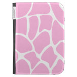 Giraffe Print Pattern in Candy Pink. Kindle Cases