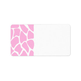Giraffe Print Pattern in Candy Pink. Custom Address Label