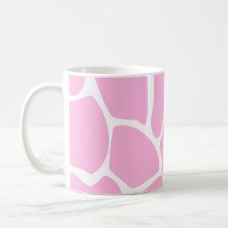 Giraffe Print Pattern in Candy Pink. Classic White Coffee Mug