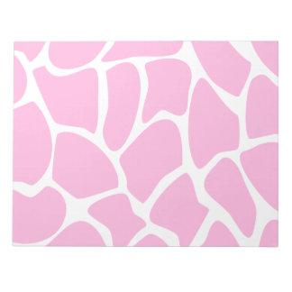 Giraffe Print Pattern in Candy Pink. Note Pads