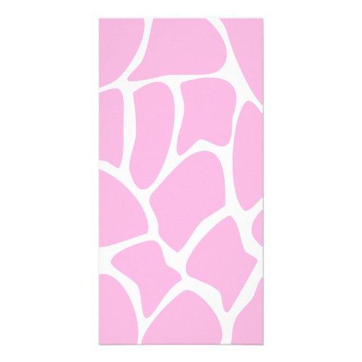 Giraffe Print Pattern in Candy Pink. Photo Greeting Card