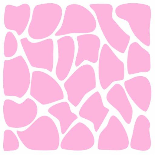 Giraffe Print Pattern in Candy Pink. Photo Sculpture