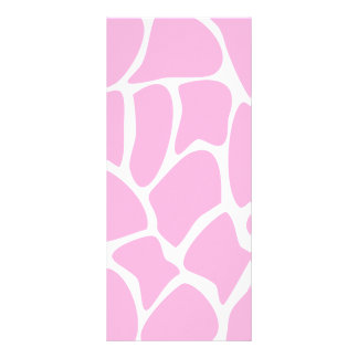 Giraffe Print Pattern in Candy Pink. Personalized Rack Card