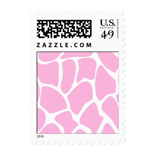 Giraffe Print Pattern in Candy Pink. Stamp